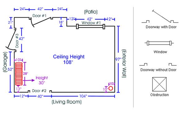 Kitchen Floor Plan Measurements