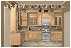 3D Rendering of Our Cabinet Design & Remodeling Projects