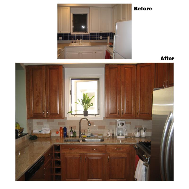 Before & After Custom Kitchen Design, Remodeling Gallery